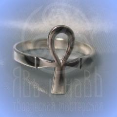 """кольцо """"Анх - II"""" серебрение"""