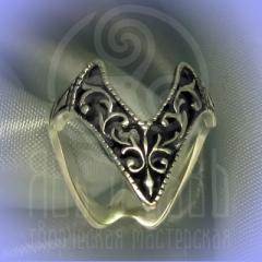 """Кольцо """"Ампир""""серебрение Арт.2696с"""