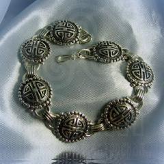 """Браслет """"Кельтские узоры"""" Арт. 1076с серебрение"""