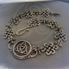 """Браслет """"Кельтский узел любви и Трилистник"""" Арт. 1098с серебрение"""