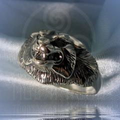 """Кольцо """"Волк"""" Арт. 2025с серебрение"""