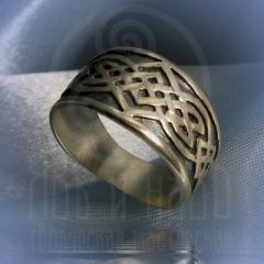 """Кольцо """"Большой тибетский узел"""" Арт. 2542с серебрение"""