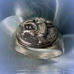 """Кольцо """"Волчий оскал"""" Арт. 2553с серебрение"""