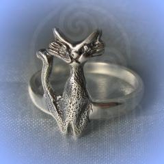 """Кольцо """"Богиня Баст"""" Арт. 2556с серебрение"""