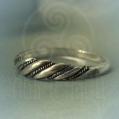 """Кольцо """"Витое узкое"""" Арт. 2607с серебрение"""