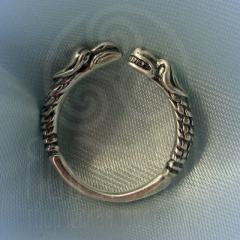 """Кольцо """"Грифон и собака"""" Арт.2609с серебрение"""