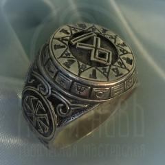 """Кольцо """"Чертог Волка"""" Арт. 2615с серебрение"""