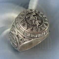 """Кольцо """"Чертог Лося"""" Арт. 2621с серебрение"""