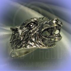 """Кольцо """"Волк"""" Арт. 2692с серебрение"""