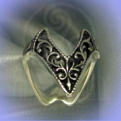 """Кольцо """"Ампир"""" Арт.2696с серебрение"""