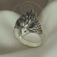 "Кольцо ""Воробей"" Арт. 2738снс серебрение"