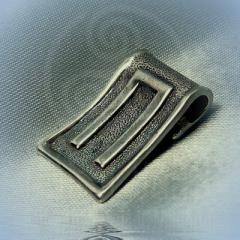 """Подвес """"Руна Перун"""" Арт. 5528с серебрение"""