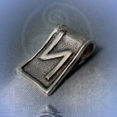 "Подвес ""Руна Сила"" Арт. 5531с серебрение"