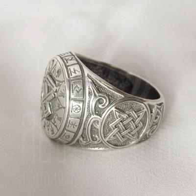 """Кольцо """"Чертог Волка"""" Арт. 2615 серебро"""