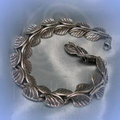 """Браслет """"Ольховый лист"""" Арт. 1069 серебро"""