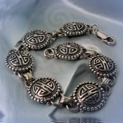 """Браслет """"Кельтские узоры"""" Арт. 1076 серебро"""