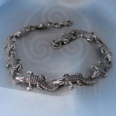 "Браслет ""Крокодильчики"" Арт. 1096 серебро"