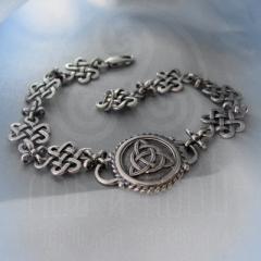 """Браслет """"Кельтский узел любви и Трилистник"""" Арт. 1098 серебро"""