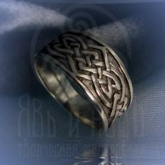 """Кольцо """"Большой тибетский узел"""" Арт. 2542 серебро"""
