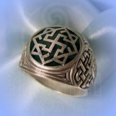 """Кольцо """"Валькирия"""" Арт. 2551эб серебро, эмаль"""