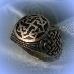 """Кольцо """"Валькирия"""" Арт. 2551эч серебро, эмаль"""