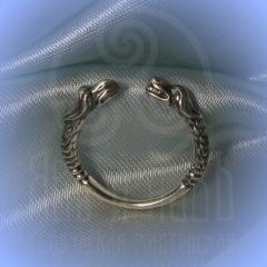 """Кольцо """"Грифон и собака"""" Арт.2609 серебро"""