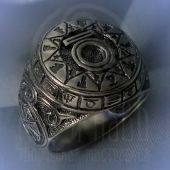 """Кольцо """"Чертог Медведя"""" Арт. 2613 серебро"""