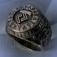 """Кольцо """"Чертог Коня"""" Арт. 2616 серебро"""
