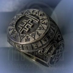 """Кольцо """"Чертог Лисы"""" Арт. 2618 серебро"""