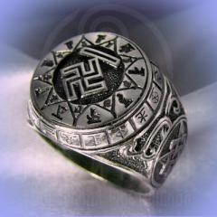 """Кольцо """"Чертог Вепря"""" Арт. 2633 серебро"""