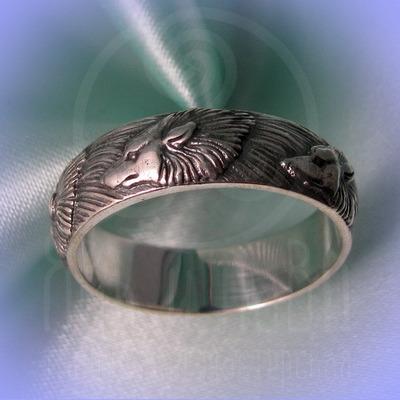 """Кольцо """"Волки"""" Арт. 2735 серебро"""