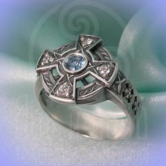 """Кольцо """"Кельтский крест"""" Арт. ко-15 серебро"""
