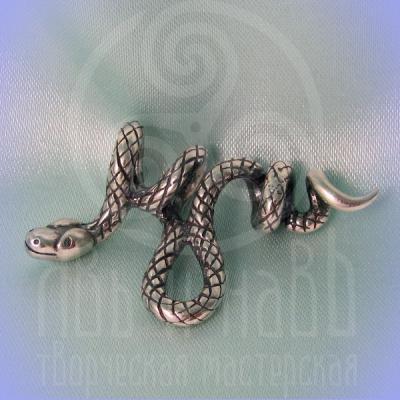 "Подвес ""Змей"" Арт.па17 серебро"